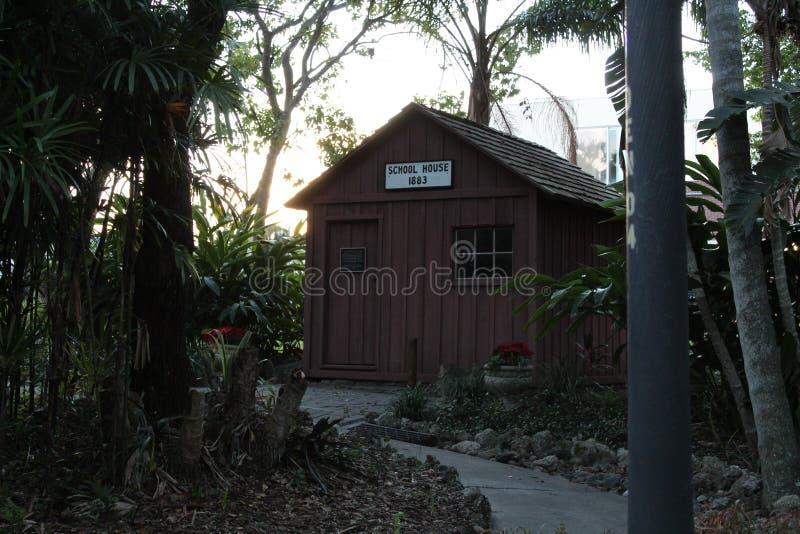 Boomhuis in Botanische tuin bij het Instituut van Florida van Technologie, Melbourne Florida royalty-vrije stock foto's