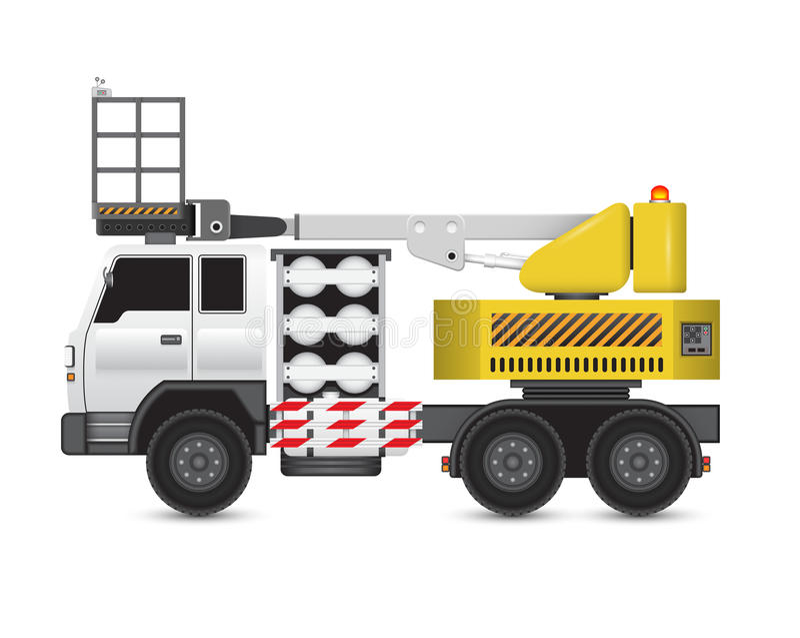 Boomlift ciężarówka ilustracja wektor