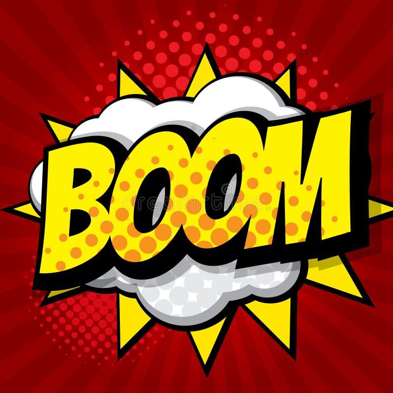 Boompop-art, grappige boekachtergrond royalty-vrije illustratie