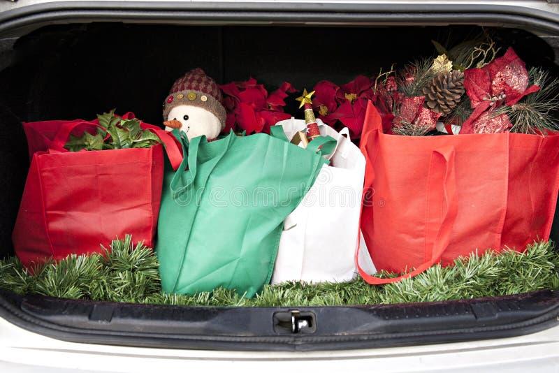 Boomstamhoogtepunt van Kerstmis royalty-vrije stock afbeeldingen