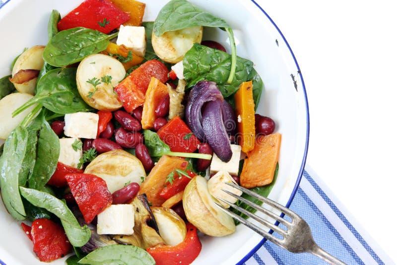 Boon en Plantaardige Salade royalty-vrije stock afbeeldingen