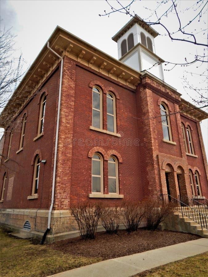 Boone County Courthouse Belvidere Illinois fotografia de stock