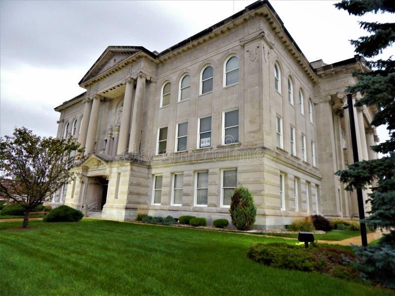 Boone County Courthouse Lebanon Indiana lizenzfreie stockfotografie