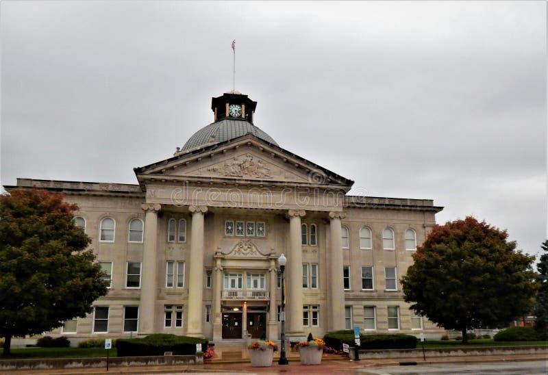 Boone County Courthouse Lebanon Indiana-Eintritt lizenzfreies stockfoto