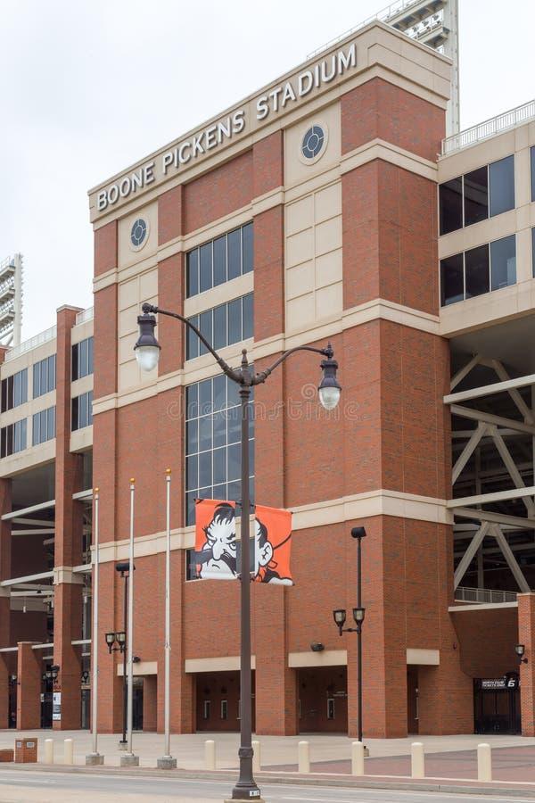 Boone Pickens Stadium na universidade estadual de Oklahoma imagem de stock