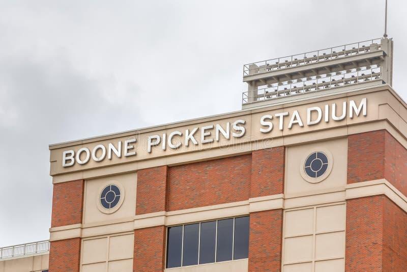 Boone Pickens Stadium na universidade estadual de Oklahoma imagens de stock