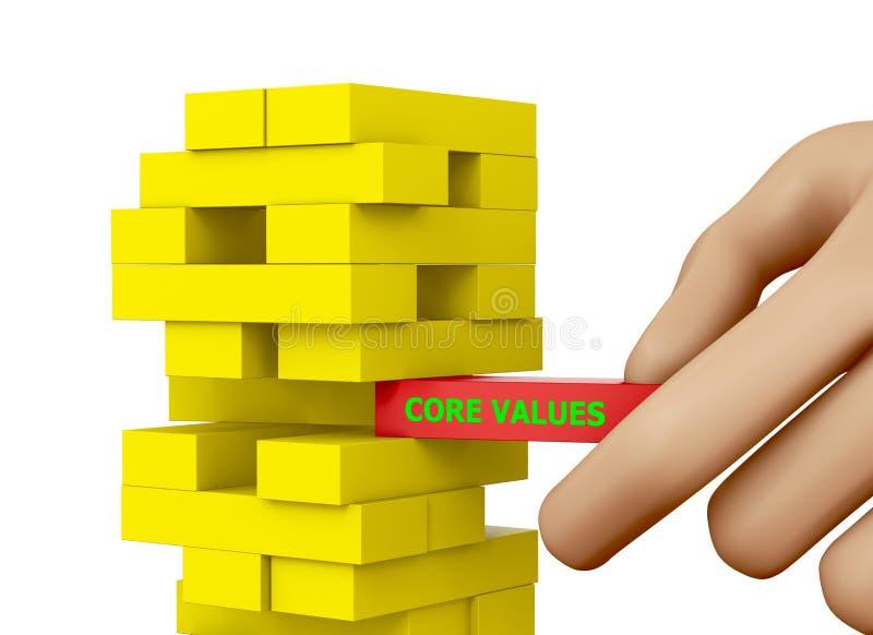 Boor waarden uit stock illustratie