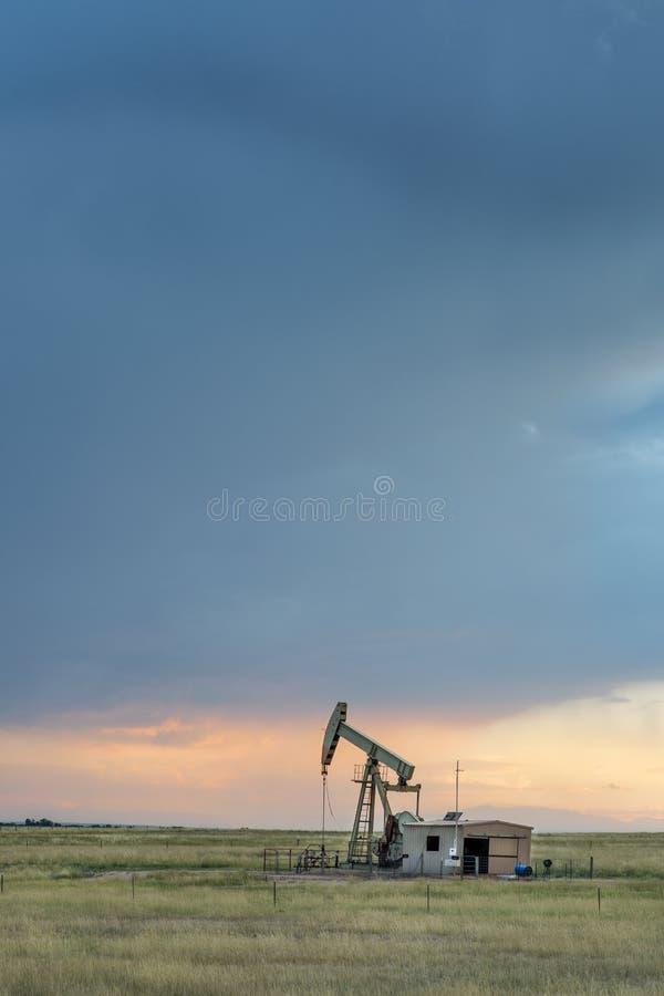 Booreiland op een prairie van Colorado stock fotografie