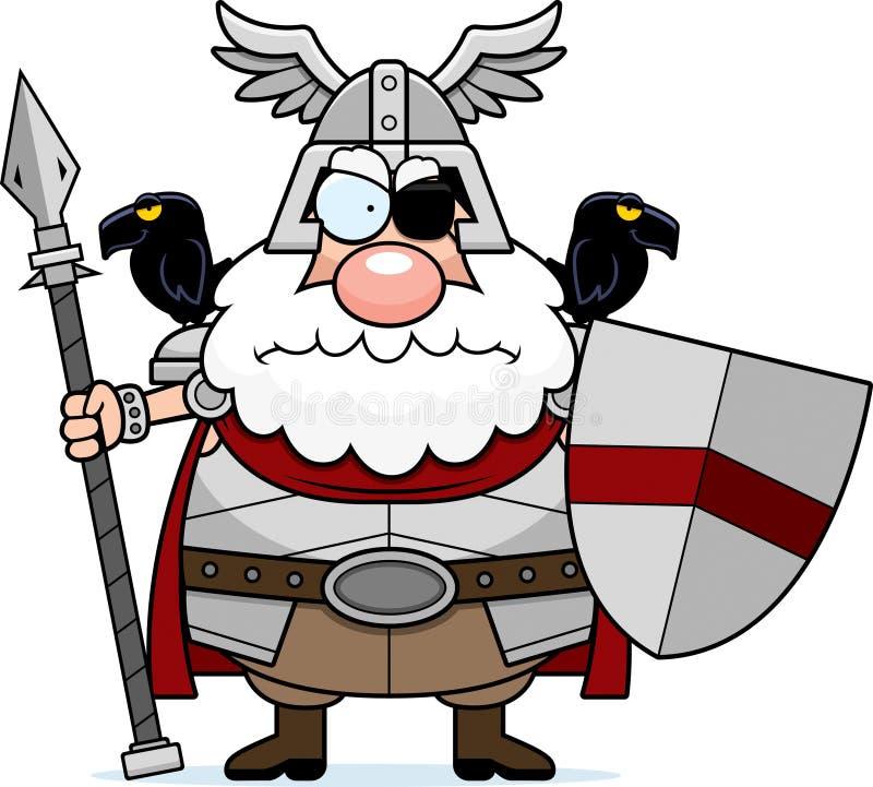 Boos Beeldverhaal Odin royalty-vrije illustratie