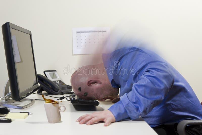 Boos bij de Computer stock foto