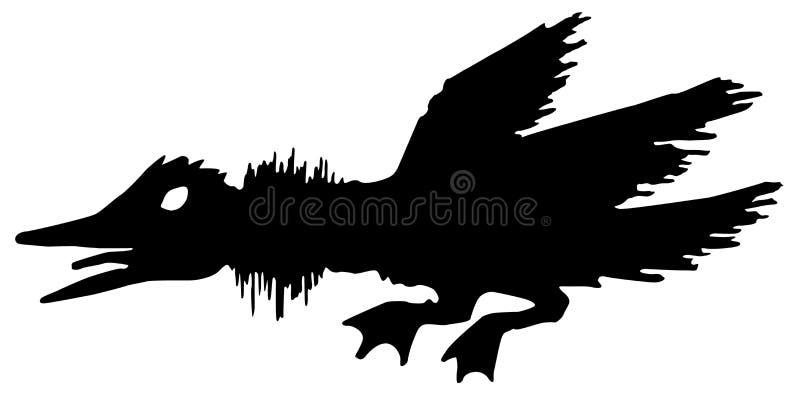 Boos Duck Stencil royalty-vrije illustratie
