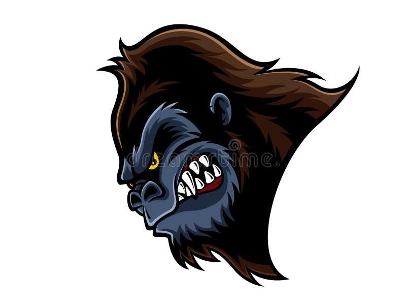 Boos gorillahoofd stock illustratie