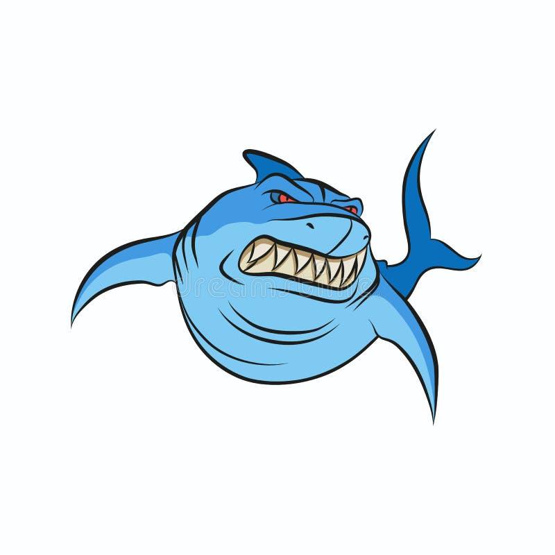 Boos haaibeeldverhaal royalty-vrije stock afbeeldingen