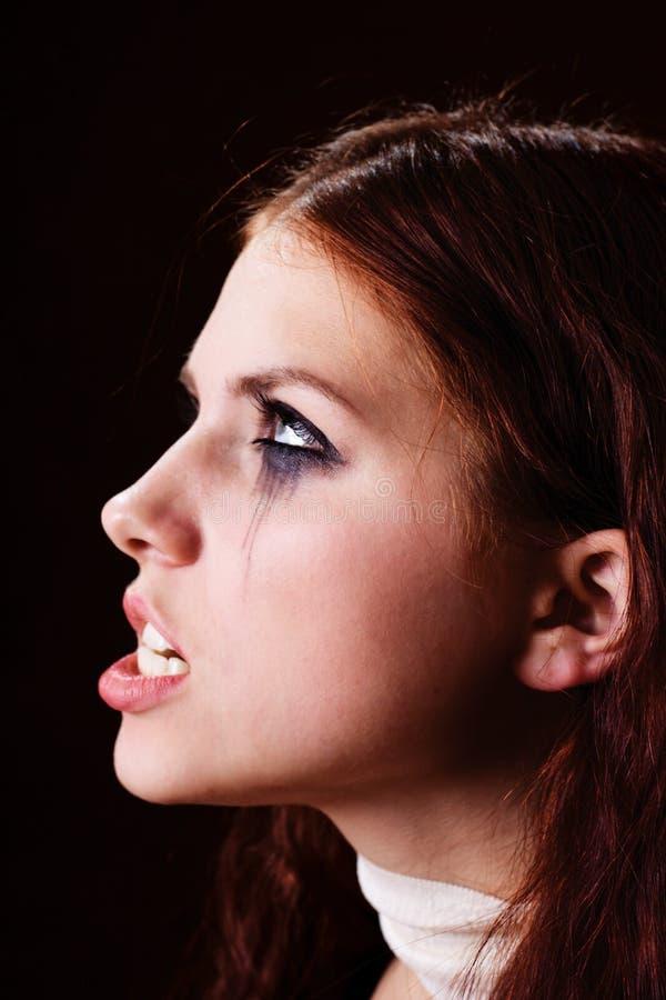 Boos meisjesportret royalty-vrije stock foto's