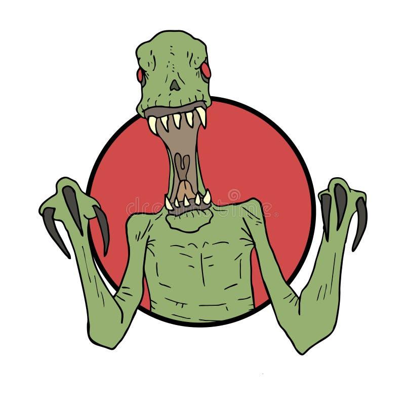 Boos monster vector illustratie