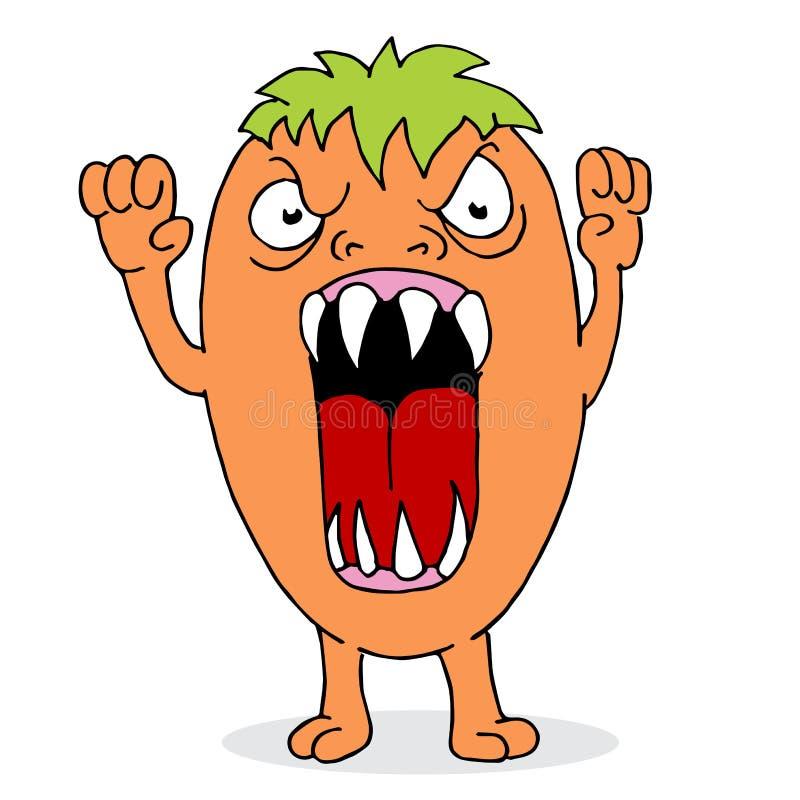 Boos Oranje Monster stock illustratie