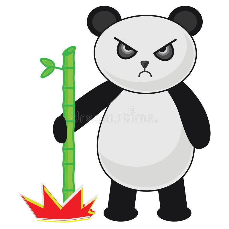 Boos Panda Bear Vector Illustration royalty-vrije stock foto's