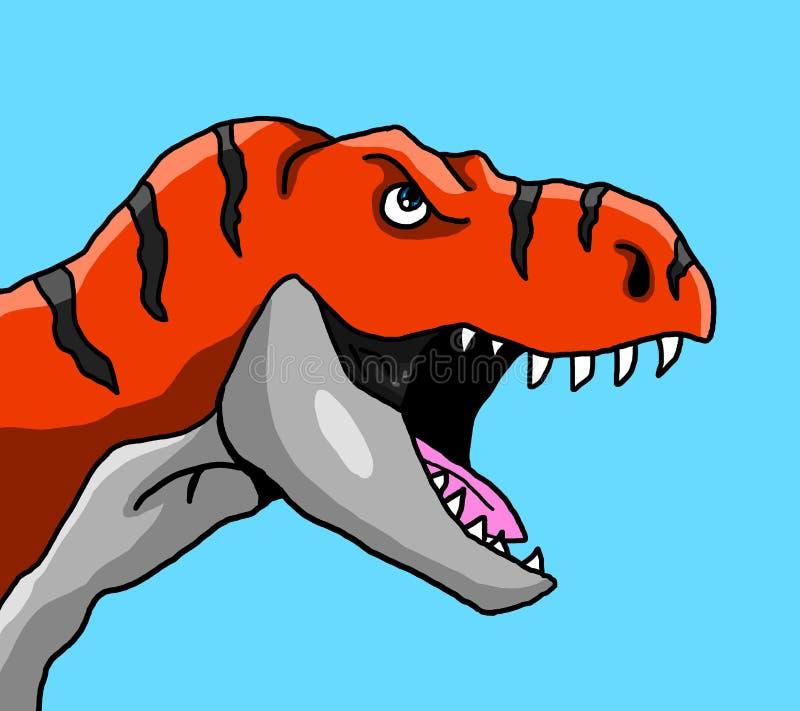 Boos Rood T Rex stock illustratie