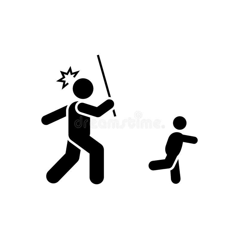 Boos, sla, kind, vaderpictogram Element van ouderpictogram Grafisch het ontwerppictogram van de premiekwaliteit Tekens en symbole stock illustratie