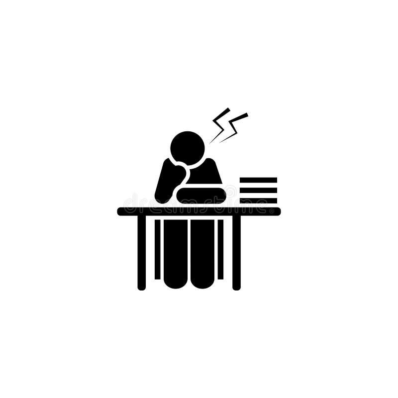 Boos, vermoeid, studentenpictogram Element van het pictogram van het onderwijspictogram Grafisch het ontwerppictogram van de prem vector illustratie