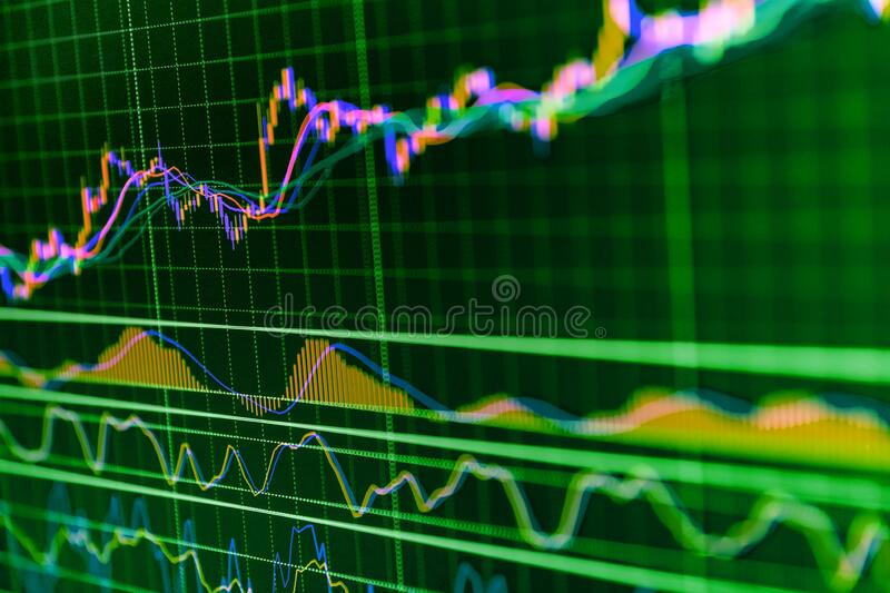 Boosting of the stock market. Stock Exchange Trading Forex Finance Graphic Concept. Stock market data information. Financial stock image