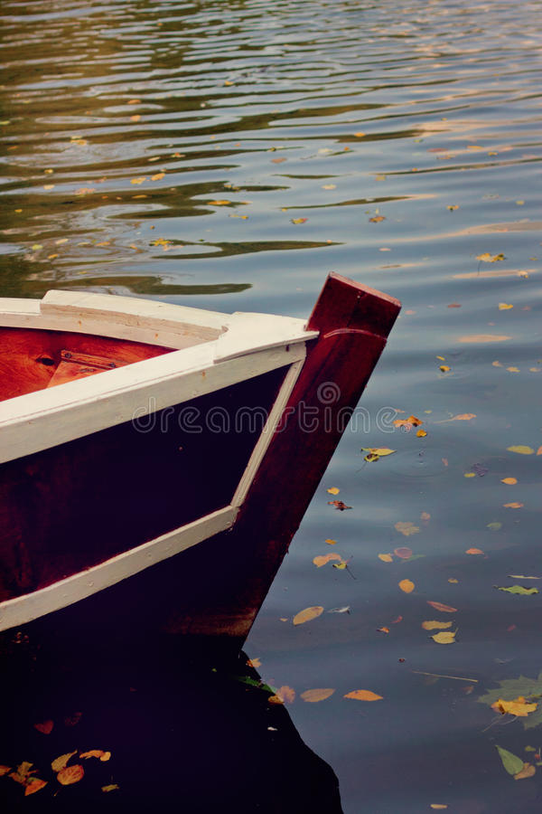 Boot auf dem See stockfoto