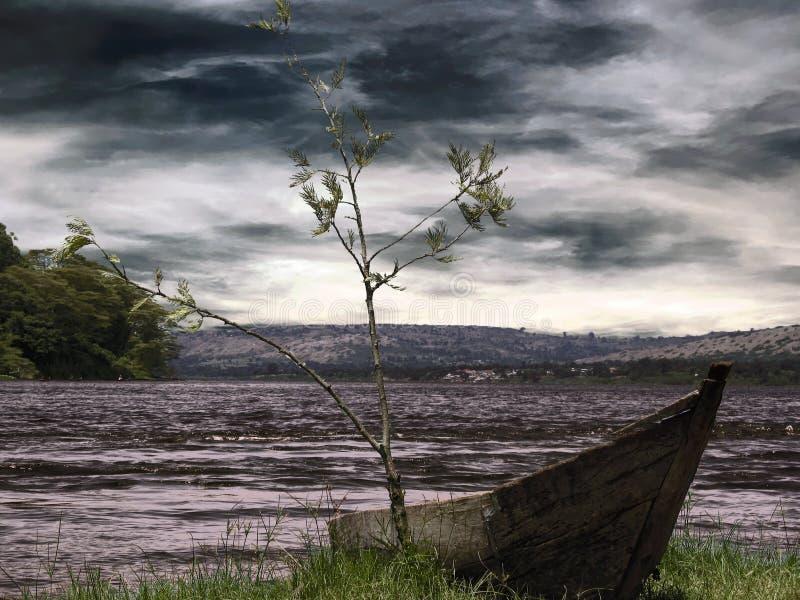 Boot auf See lizenzfreie stockfotografie