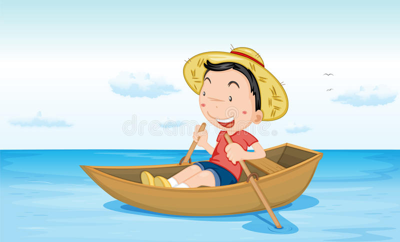 Boot auf Wasser lizenzfreie abbildung
