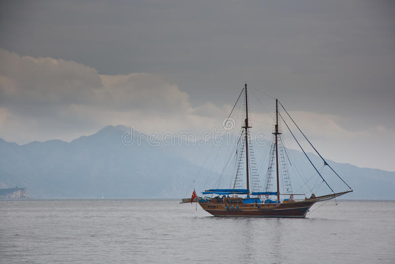 Boot in Baai Turunc stock foto