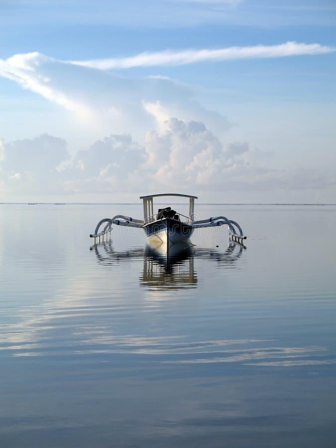 Boot in Bali lizenzfreies stockbild