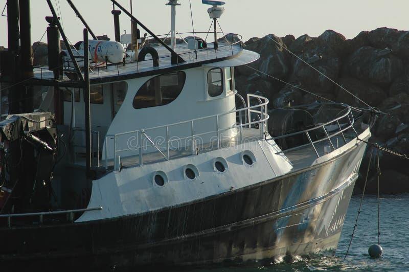 Boot bij anker royalty-vrije stock afbeelding