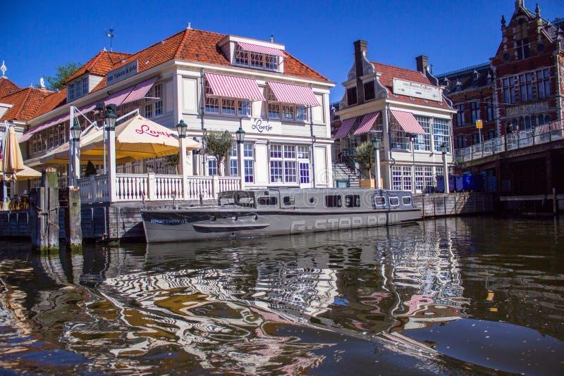 Boot bij het kanaal royalty-vrije stock foto