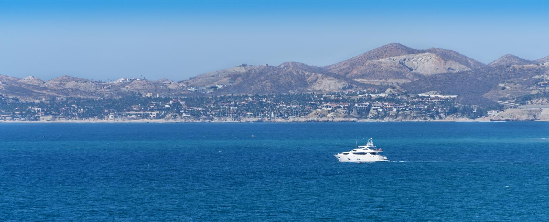Boot in Cabo San Lucas stockfotografie