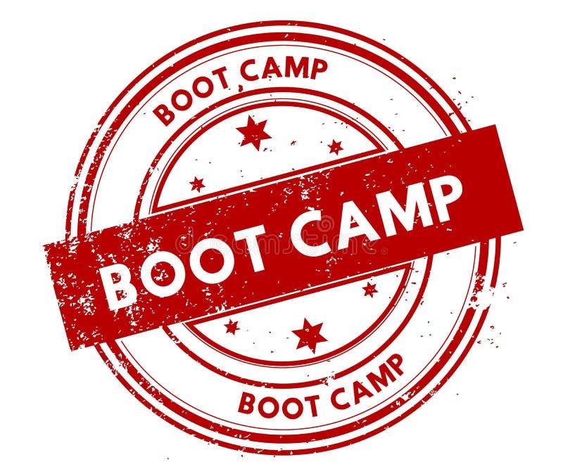 BOOT CAMP apenó el sello rojo ilustración del vector