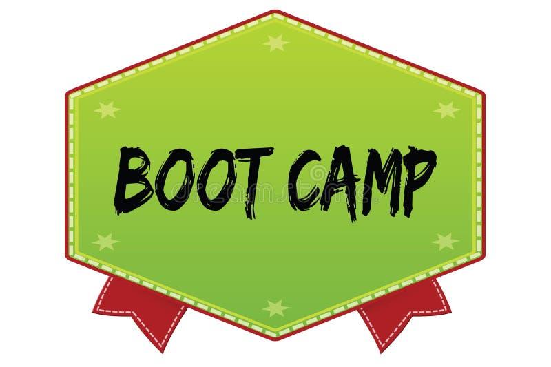 BOOT CAMP en insignia verde con las cintas rojas libre illustration