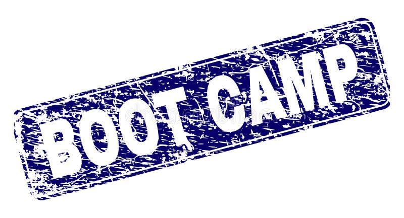 BOOT CAMP rasguñado enmarcó el sello redondeado del rectángulo stock de ilustración