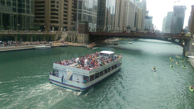 Boot Chicago lizenzfreie stockfotografie