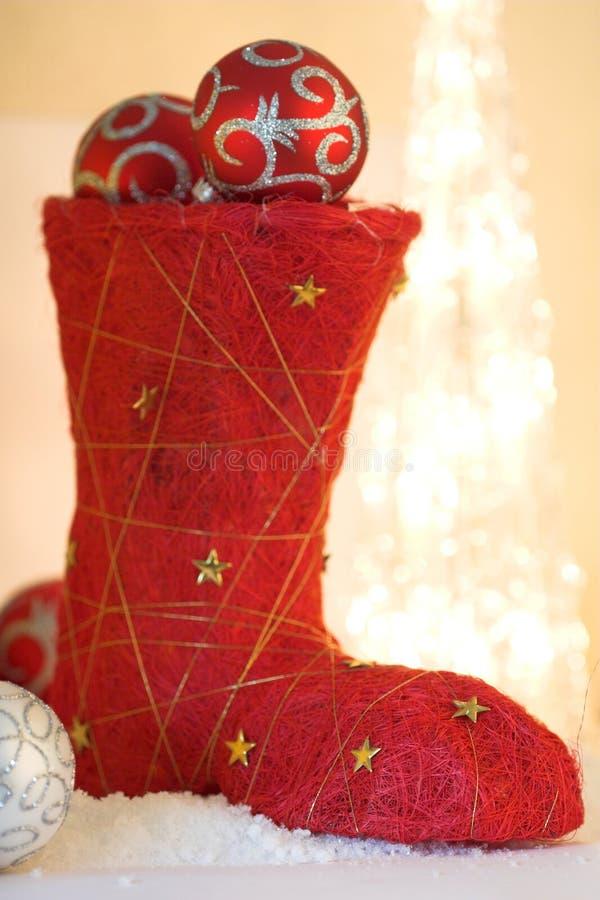 Download Boot christmas στοκ εικόνα. εικόνα από closeup, φω, εορταστικός - 1538483