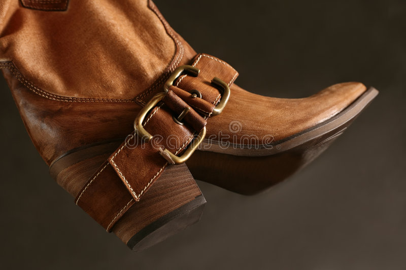 Boot of the cowboy stock image