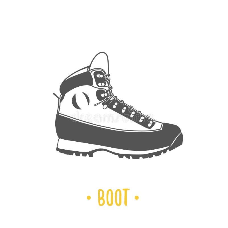 boot Ejemplo blanco y negro ilustración del vector