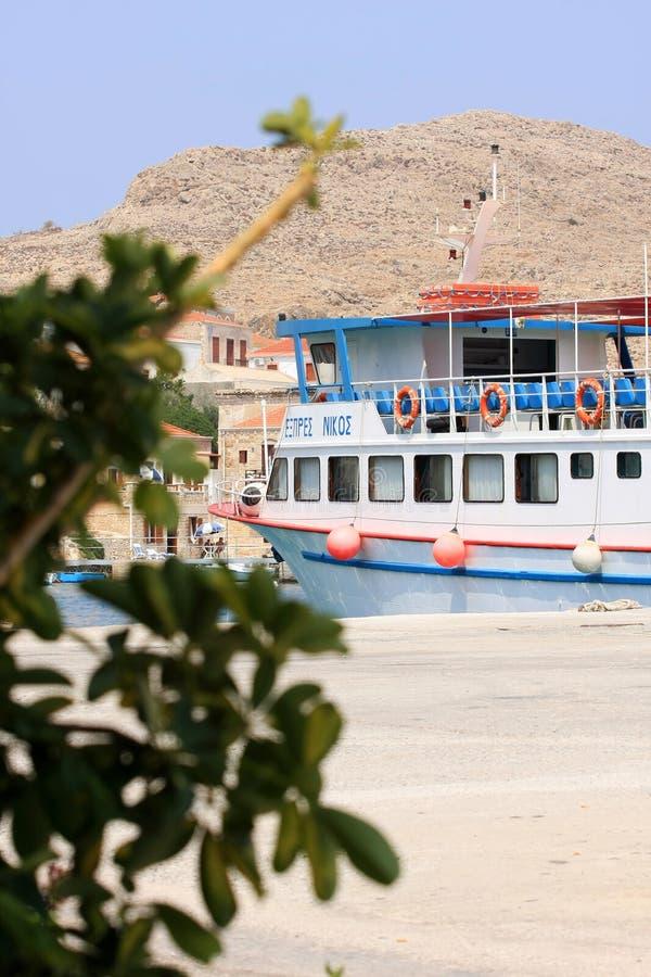 Boot in Griekenland royalty-vrije stock foto's