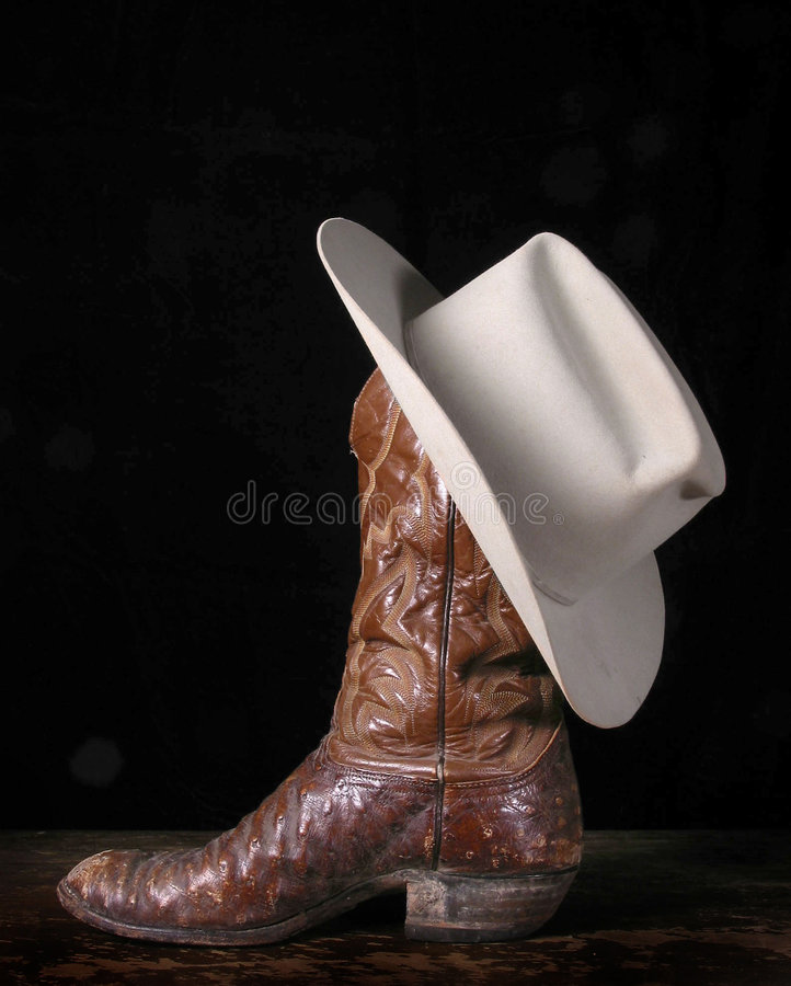 Boot and Hat royalty free stock photography