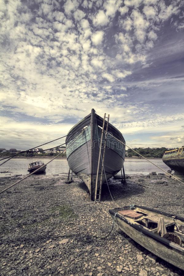 Boot HDR royalty-vrije stock afbeelding