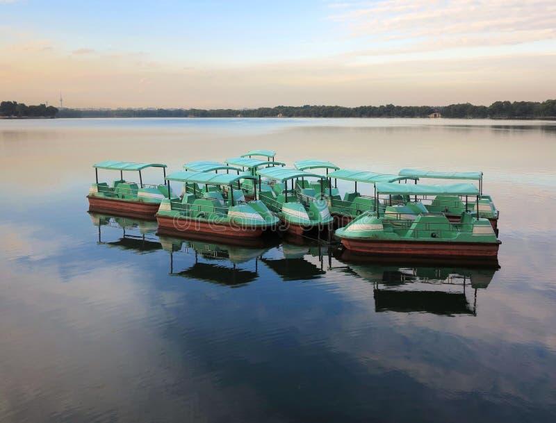 Boot in het Paleis lakeï ¼ China, Peking van de Zomer stock foto