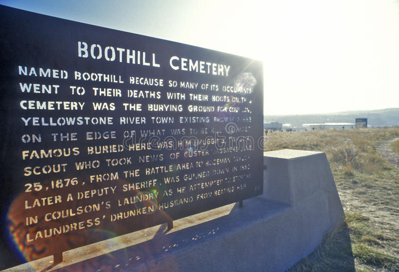 Boot Hill Cemetery, Billings, MT royalty free stock images