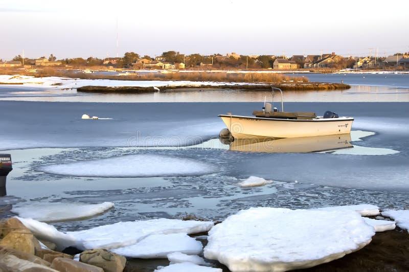 Boot in ijs stock afbeeldingen