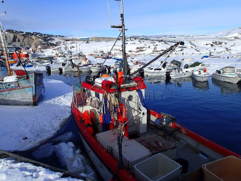 Boot im EIS stockbild