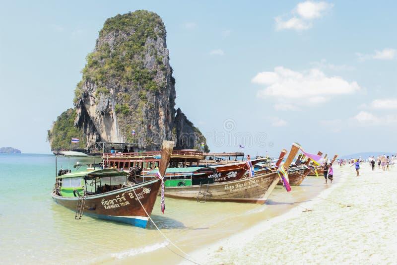 Boot Krabi Thailand stock afbeelding