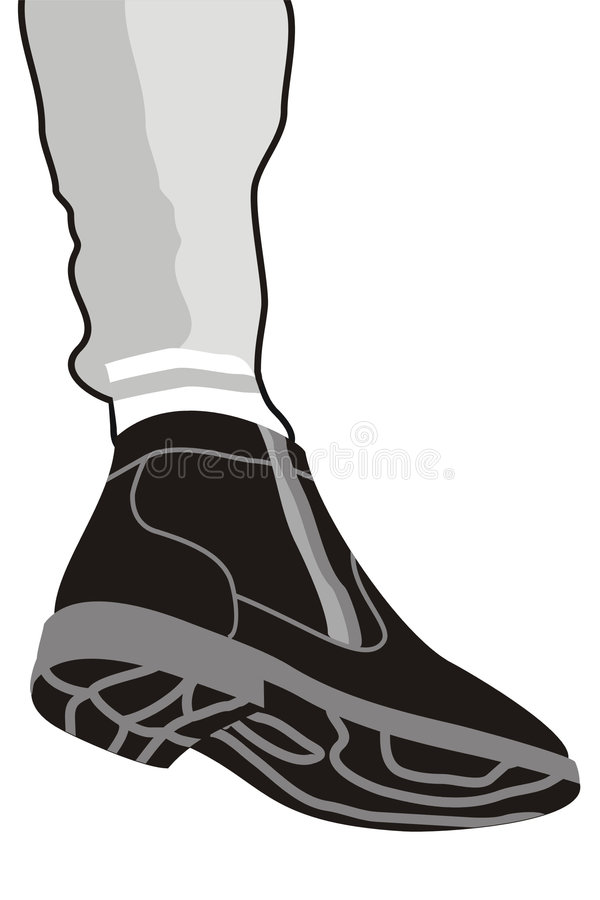 Download Boot and leg stock vector. Image of vector, isolated, feet - 7310768