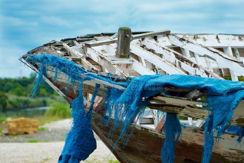 Boot met netten royalty-vrije stock foto